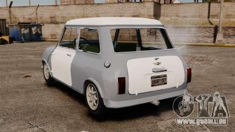 Mini Cooper S 1968 pour GTA 4 Vue arrière de la gauche