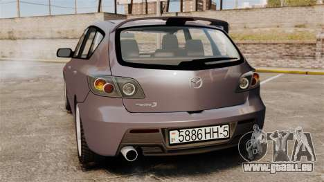 Mazda 3 Sport pour GTA 4 est un droit