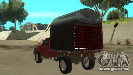 Chevrolet Luv 2.500 diesel pour GTA San Andreas vue arrière