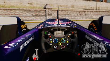 Voiture, Red Bull RB9 v2 pour GTA 4 Vue arrière