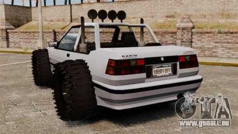 Jeep Futo Final pour GTA 4 Vue arrière de la gauche