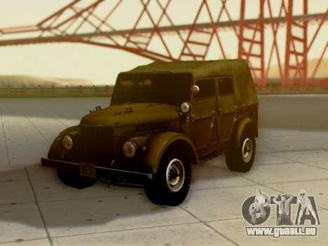 UAZ-69 A pour GTA San Andreas roue