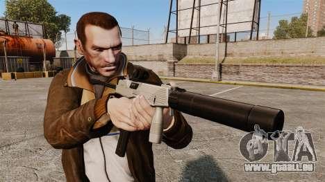 Tactique MP9 pistolet mitrailleur v3 pour GTA 4 troisième écran
