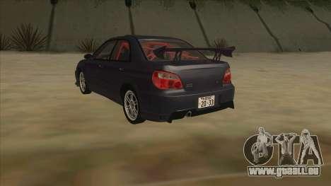 Subaru Impreza WRX STI Drift 2004 pour GTA San Andreas vue arrière