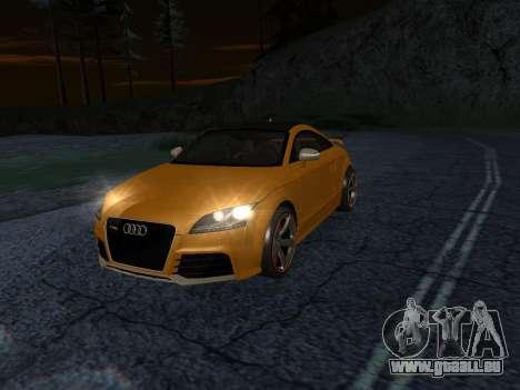 Audi TT RS Plus 2013 pour GTA San Andreas sur la vue arrière gauche