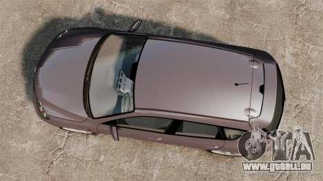 Mazda 3 Sport pour GTA 4 est une vue de l'intérieur