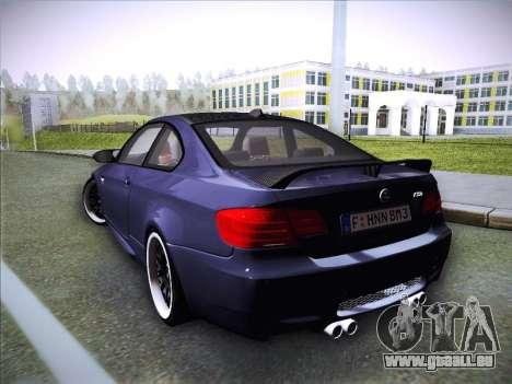 BMW M3 E92 Hamann 2012 pour GTA San Andreas laissé vue