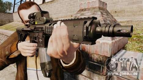 Carabine M4 CQC dans le style de Modern Warfare pour GTA 4 troisième écran