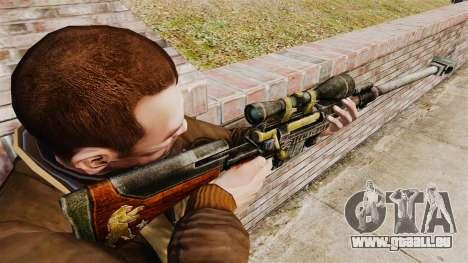 Fusil anti-matériel pour GTA 4 secondes d'écran