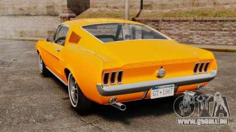 Ford Mustang 1967 Classic pour GTA 4 Vue arrière de la gauche