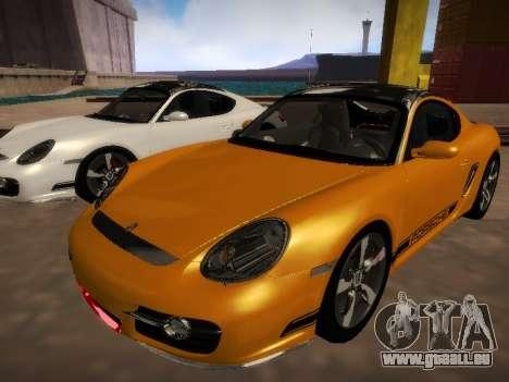 Porsche Cayman R 2007 für GTA San Andreas zurück linke Ansicht