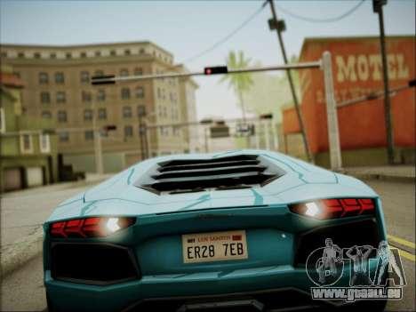 Lamborghini Aventador LP700 pour GTA San Andreas vue de côté