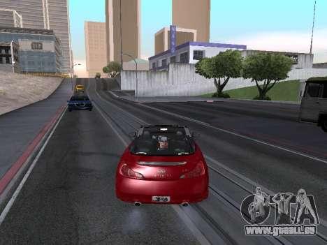 Infinity G37 S Cabriolet pour GTA San Andreas laissé vue