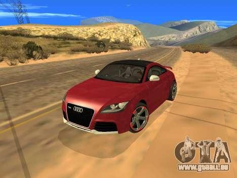 Audi TT RS Plus 2013 pour GTA San Andreas vue arrière
