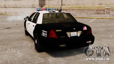 Ford Crown Victoria Police GTA V Textures ELS pour GTA 4 Vue arrière de la gauche