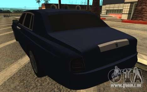 Rolls-Royce Phantom für GTA San Andreas Unteransicht