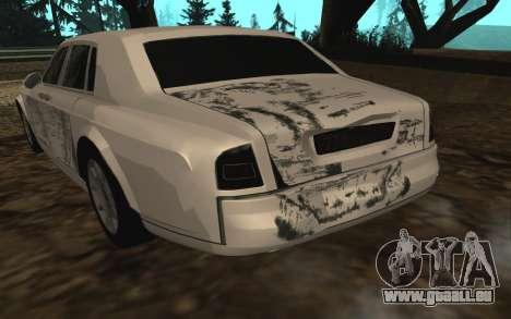 Rolls-Royce Phantom v2.0 pour GTA San Andreas vue de dessous