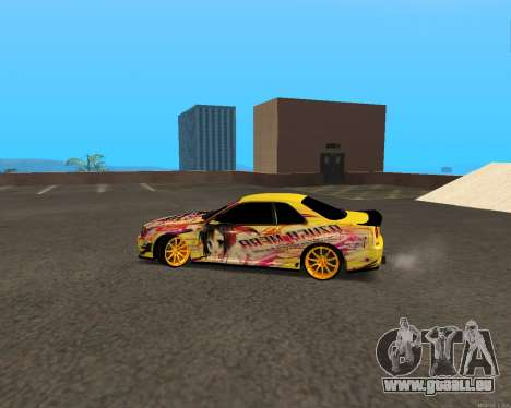 Nissan Skyline R34 Azusa Mera pour GTA San Andreas laissé vue