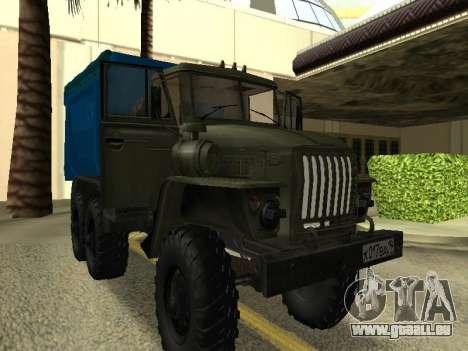 Ural 4320 Tonar pour GTA San Andreas vue de droite