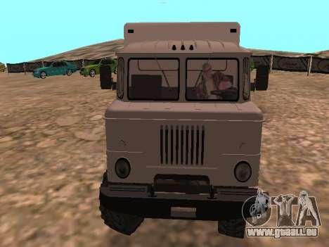 GAZ 66 ansehen für GTA San Andreas Rückansicht