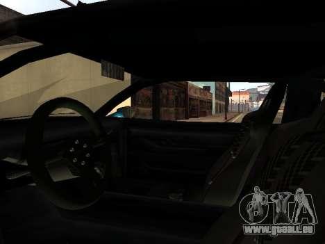 Infernus DoTeX pour GTA San Andreas vue de côté