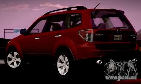 Subaru Forester XT 2008 v2.0 pour GTA San Andreas laissé vue