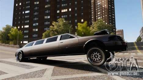 Dragsters Limo pour GTA 4 est une vue de l'intérieur
