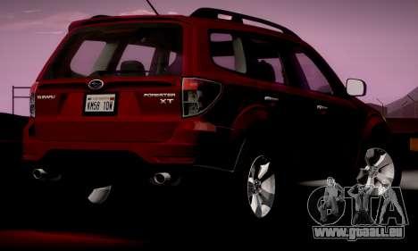 Subaru Forester XT 2008 v2.0 pour GTA San Andreas sur la vue arrière gauche