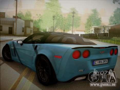 Chevrolet Corvette ZR1 2010 pour GTA San Andreas laissé vue