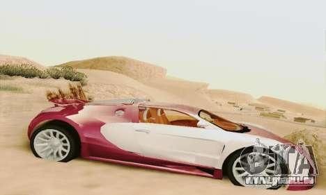 Bugatti Veyron 16.4 Concept für GTA San Andreas zurück linke Ansicht