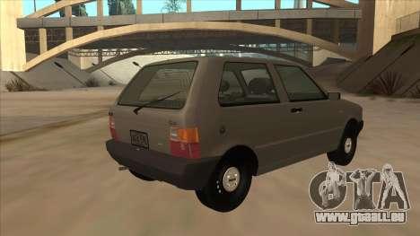 Fiat Uno 1995 für GTA San Andreas rechten Ansicht