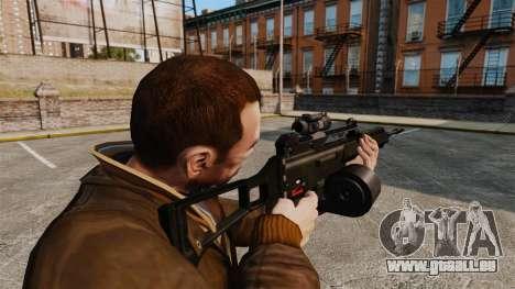 Fusil d'assaut H & K MG36 v3 pour GTA 4 secondes d'écran