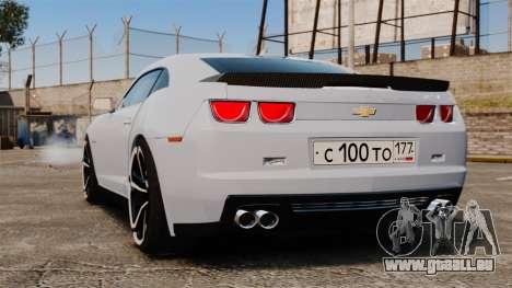 Chevrolet Camaro ZL1 2012 pour GTA 4 Vue arrière de la gauche