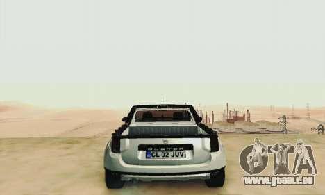 Dacia Duster Pick-up pour GTA San Andreas vue intérieure