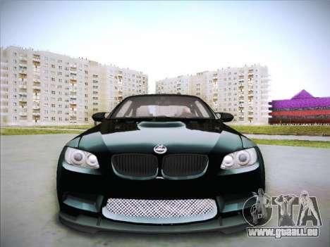 BMW M3 E92 Hamann 2012 pour GTA San Andreas vue intérieure