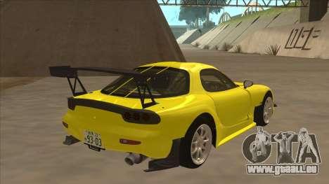 Mazda RX7 FD3S RE Amemyia Touge Style pour GTA San Andreas vue de droite