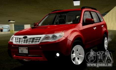Subaru Forester XT 2008 v2.0 pour GTA San Andreas vue de droite