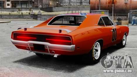 Dodge Charger 1969 General Lee v2 pour GTA 4 Vue arrière de la gauche