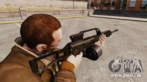 Fusil d'assaut H & K MG36 v1 pour GTA 4 secondes d'écran