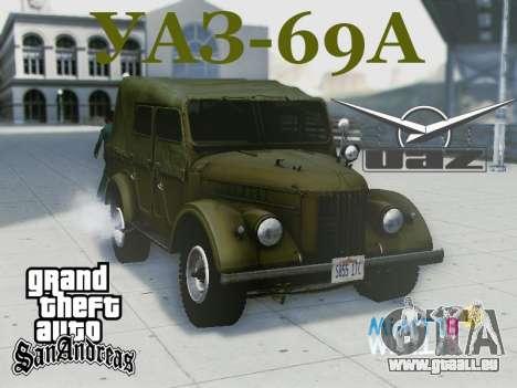 UAZ-69 A pour GTA San Andreas vue de côté