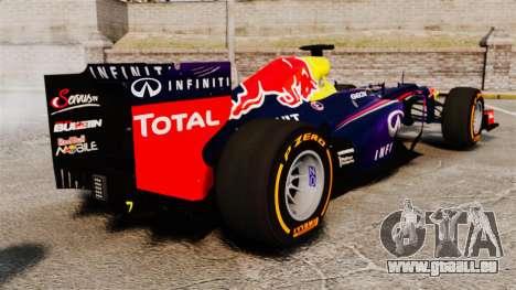 Voiture, Red Bull RB9 v2 pour GTA 4 Vue arrière de la gauche