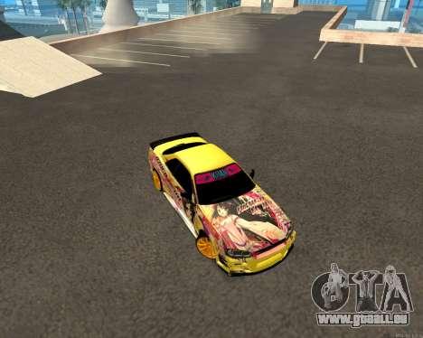 Nissan Skyline R34 Azusa Mera pour GTA San Andreas vue arrière