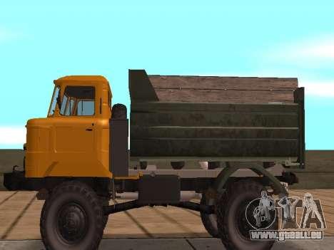 GAS-66 LKW für GTA San Andreas zurück linke Ansicht