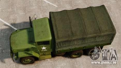 Base militaire camion AM général M35A2 1950 pour GTA 4 est un droit