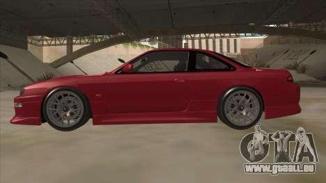 Nissan Silvia S14 RB26DETT Black Revel für GTA San Andreas zurück linke Ansicht