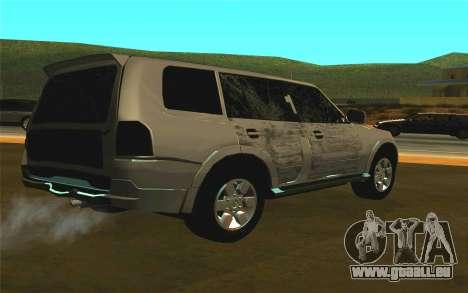 Mitsubishi Pajero für GTA San Andreas rechten Ansicht