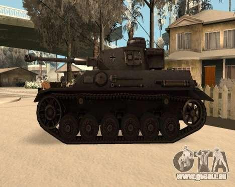 Panzerkampfwagen pour GTA San Andreas laissé vue