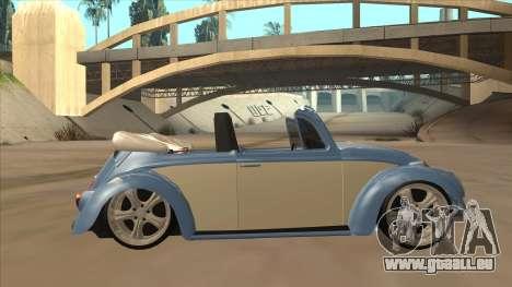 VW Beetle 1969 pour GTA San Andreas sur la vue arrière gauche