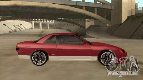 Nissan Silvia S13 pour GTA San Andreas sur la vue arrière gauche