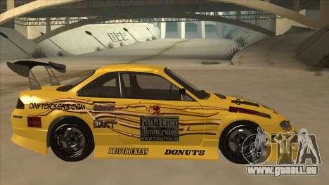 Nissan S14.5 pour GTA San Andreas sur la vue arrière gauche